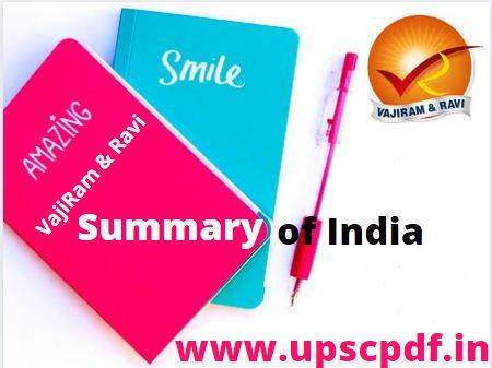 Summary of India 2020 by Vajiram and Ravi