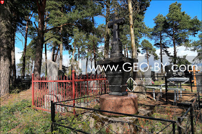 Кладбище в Заславле. Изрешеченный пулями крест