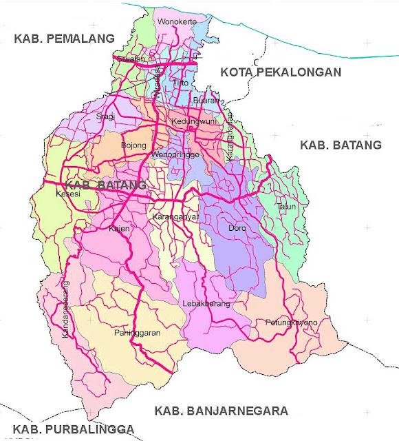 Gambar Peta Jalan Kabupaten Pekalongan