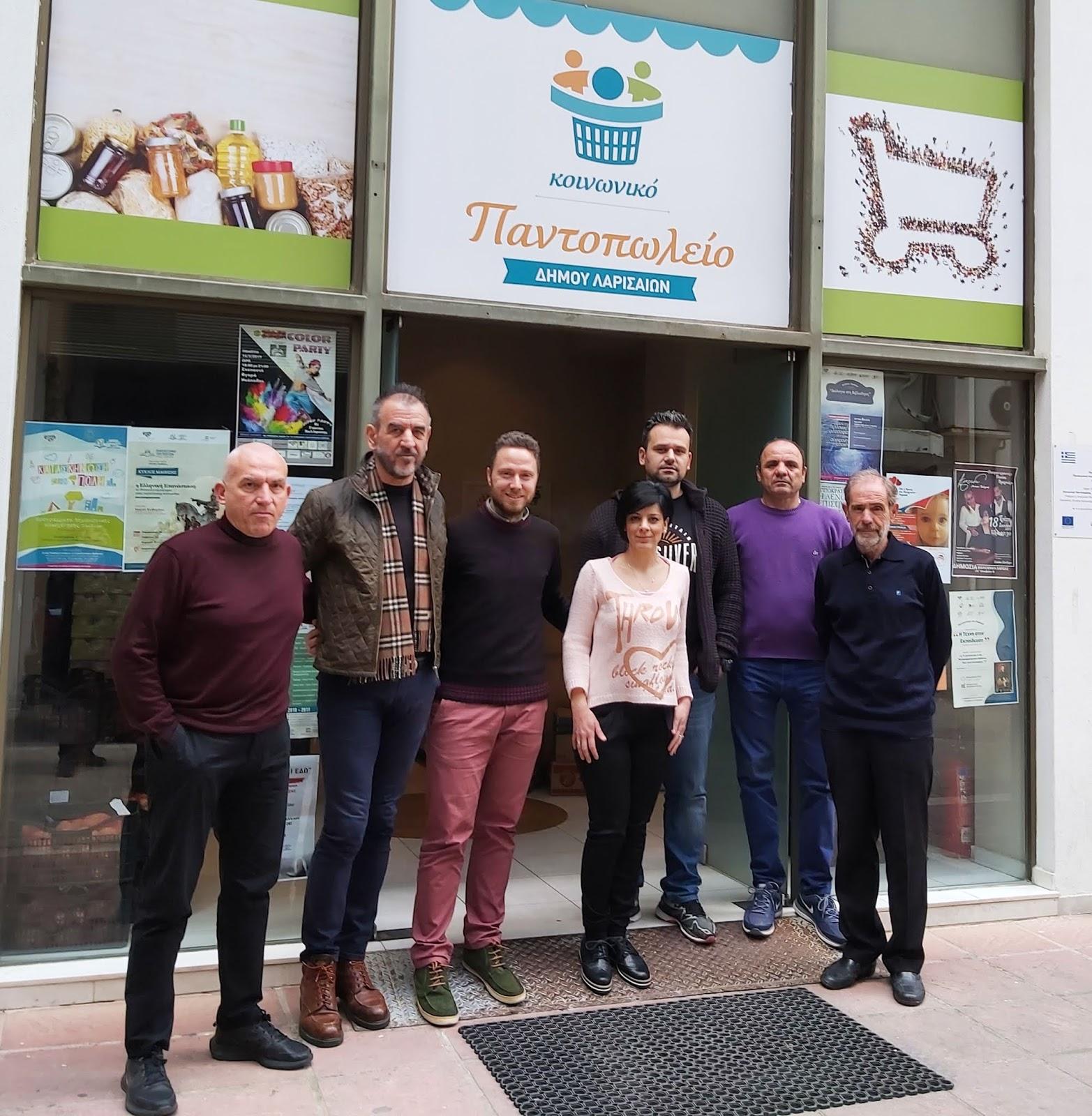 Τρόφιμα από τον Σύλλογο Μαραθωνοδρόμων στο Κοινωνικό Παντοπωλείο Λάρισας