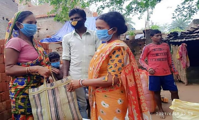 Chandana Baury is collecting and distributing relief from far and wide to stand by the poor people