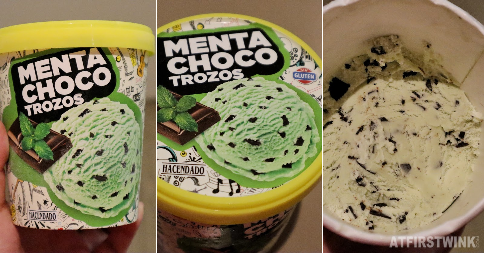 Hacendado mint chocolate mercadona supermarket ice cream