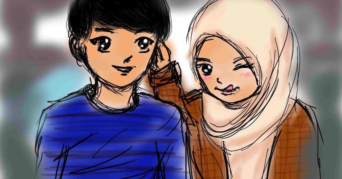 Kumpulan Animasi Muslim Couple Design Kartun