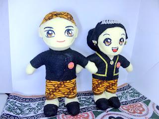 Boneka Adat Jawa Couple