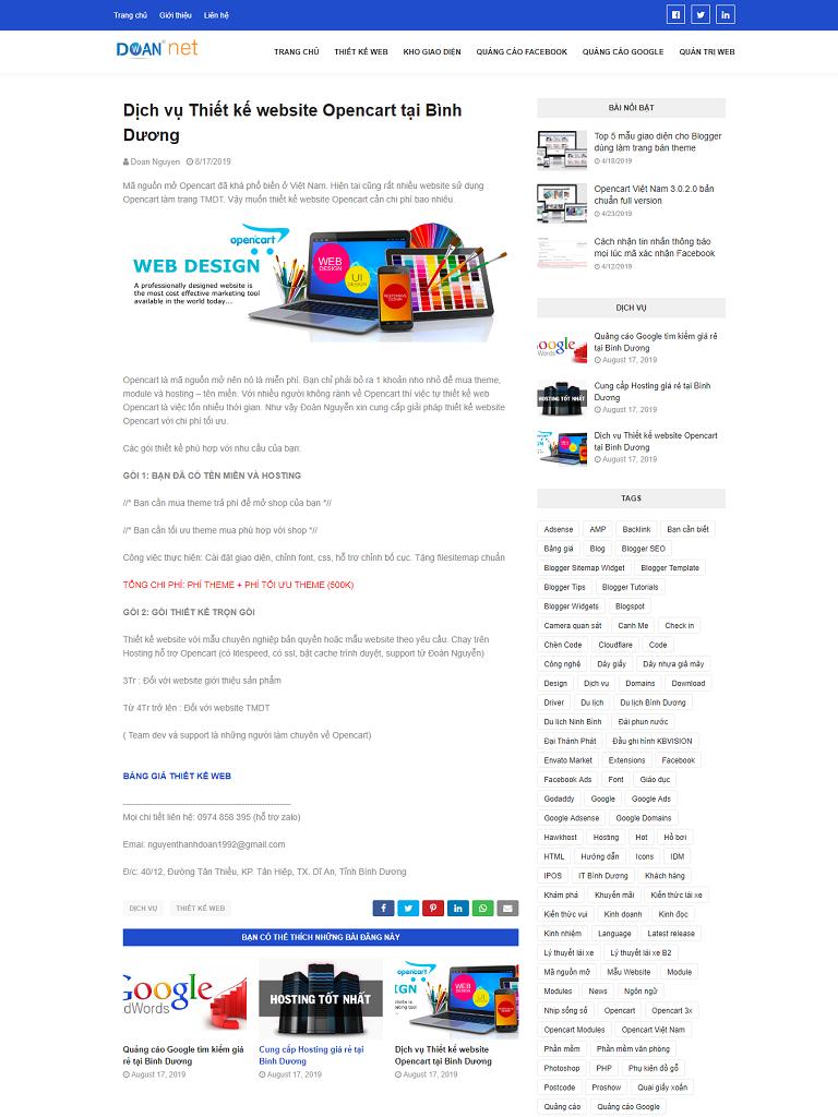Template blogspot thiết kế web, quản trị web đẹp - Ảnh 2