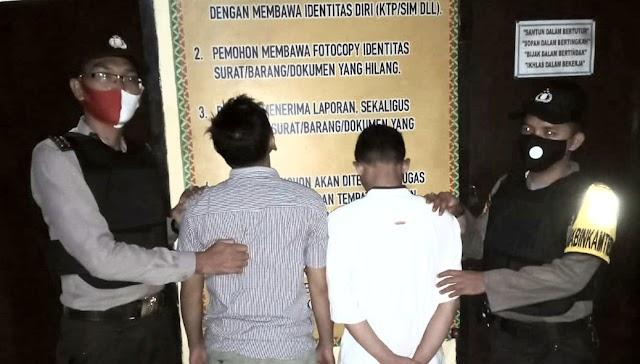 Bawa Narkoba, Dua Pria Diamankan Polsek Talang Padang