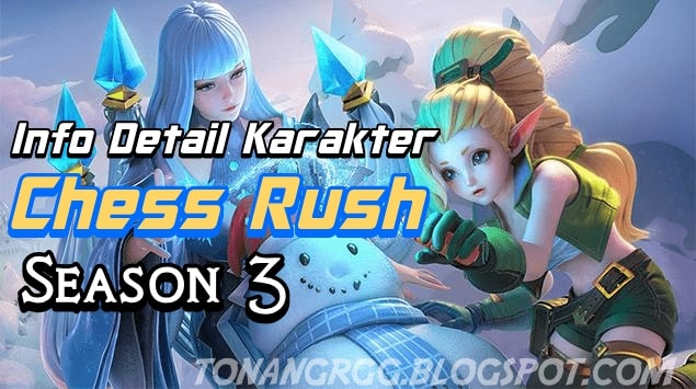 Full Info Lengkap Karakter dan Skill Hero Epic dan Legend Chess Rush Season 3