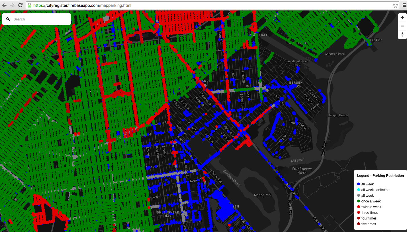 Street Sweeping Nyc Map.Timing New York City Parking Rules On A Map