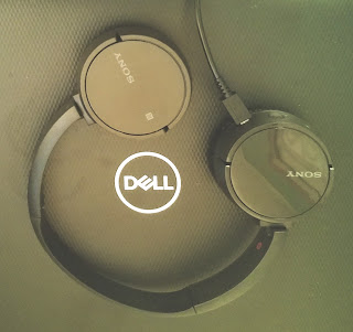 New Dell Laptop with Sony Wireless Headphones
