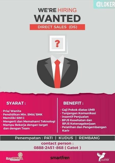 Lowongan Kerja Direct Sales (DS) Smartfren Rembang