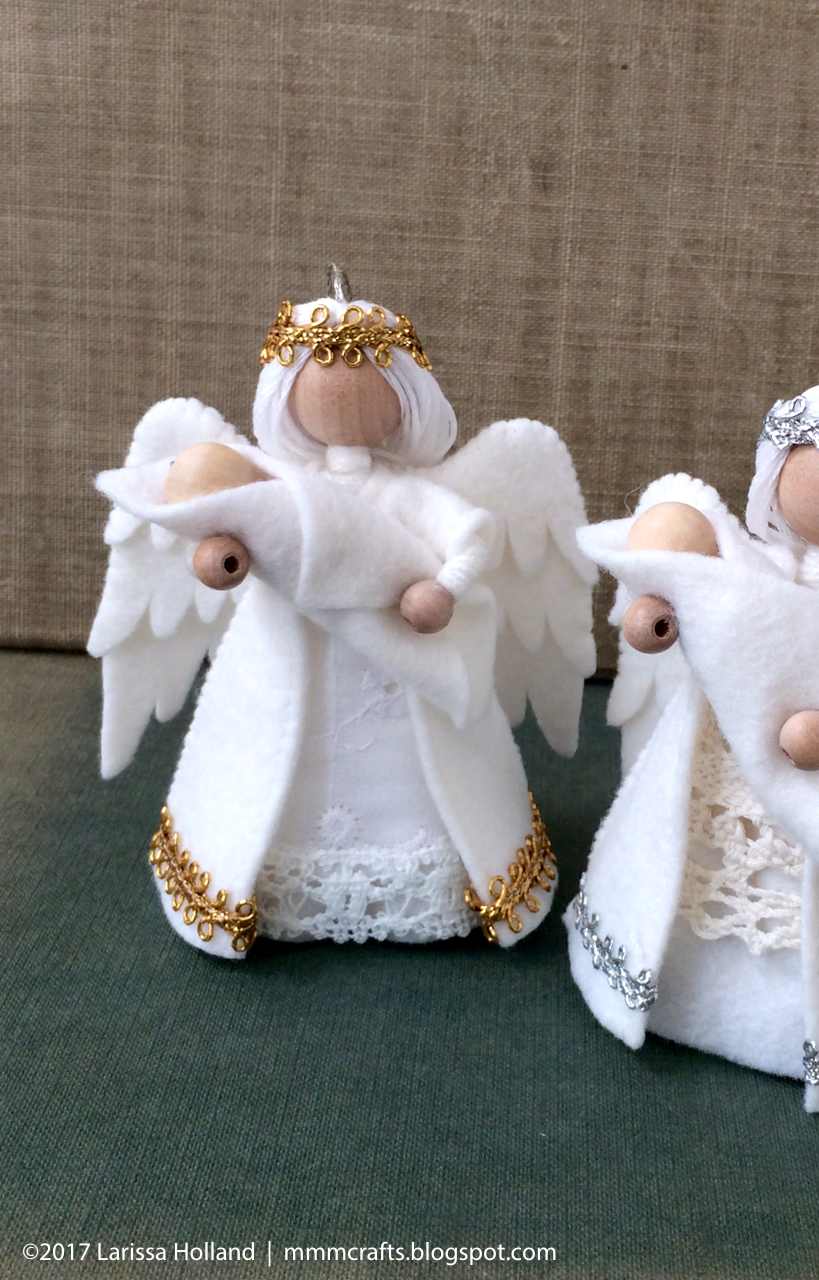 Mmmcrafts Handmade Christmas Gifts 2016 Angel Ornaments