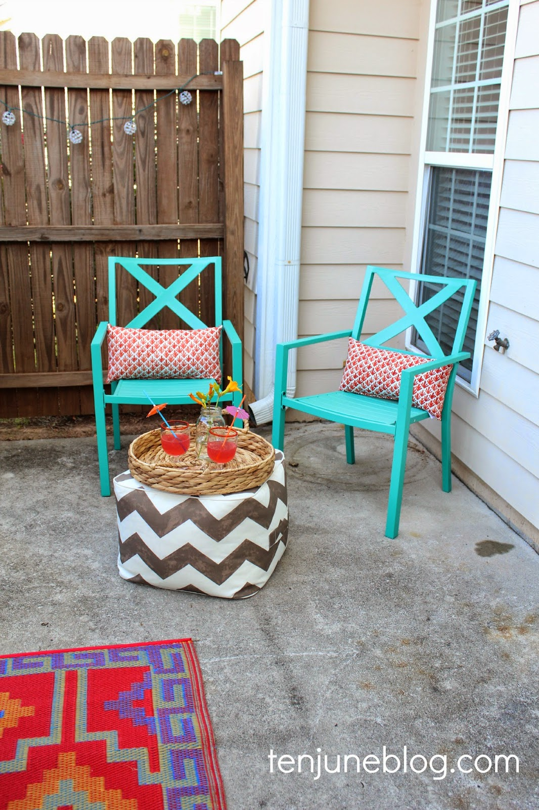 Ten June Colorful Outdoor Patio Makeover Reveal