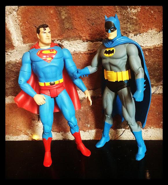 World's Finest Superman Batman DC Direct figures