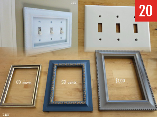 frames around your light switch covers