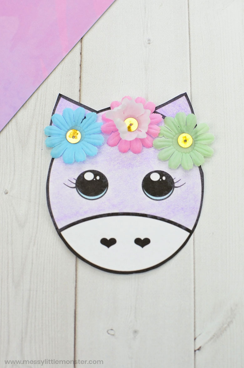 unicorn printable craft