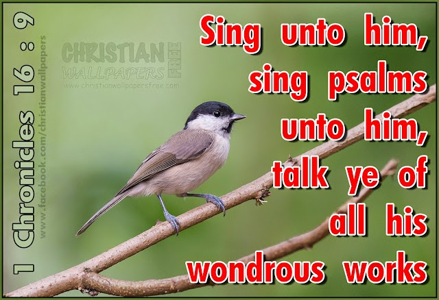 Sing for the wondrous works