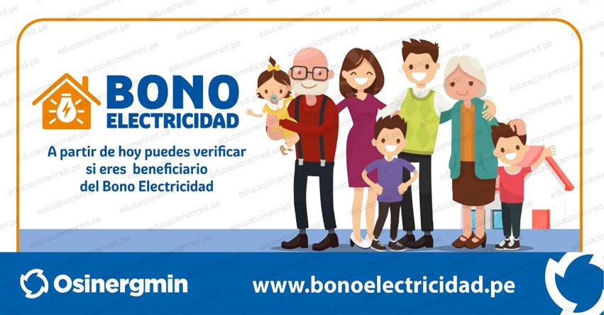 WWW.BONOELECTRICIDAD.PE - Link Oficial para consultar Lista de Beneficiarios