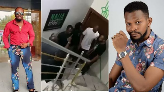 Jim Iyke Tracks-down & Beats Up Uche Maduagwu Days After He Questioned His Source Of Wealth (Video)