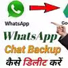 Delete whatsapp chat backup from google drive