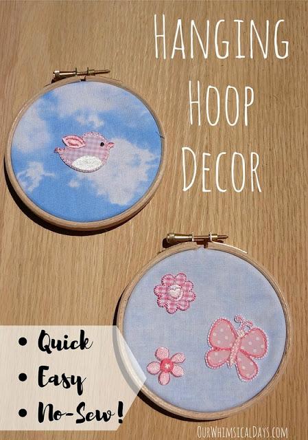 easy embroidery hoop art