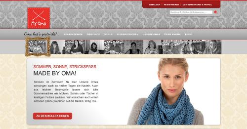 Die MyOma-Startseite.