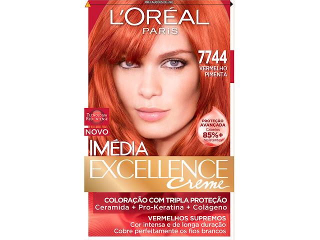 tintura da L'oréal 7744 (vermelho pimenta)