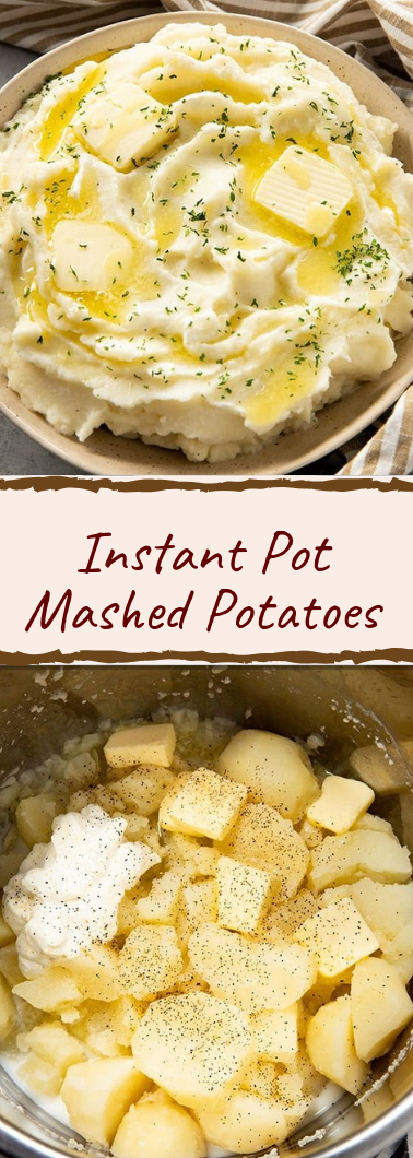 Instant Pot Mashed Potatoes #healthyfood #dietketo