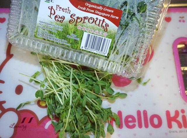 ntuc finest organic pea sprouts recipe