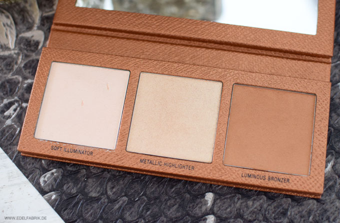 LOV The Glowrious Highlighting & Bronzing Palette 020 Gold Attraction, Swatch