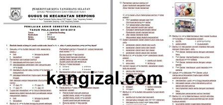 Soal UAS / PAS Kelas 5 Tema 4 Kurikulum 2013 terbaru kangizal.com