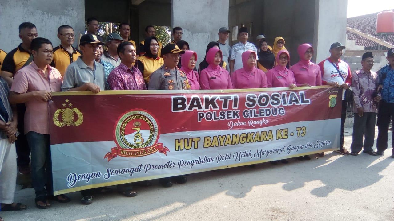 Polsek Ciledug Laksanakan Baksos Di Wilayah Kelurahan Sudimara Timur