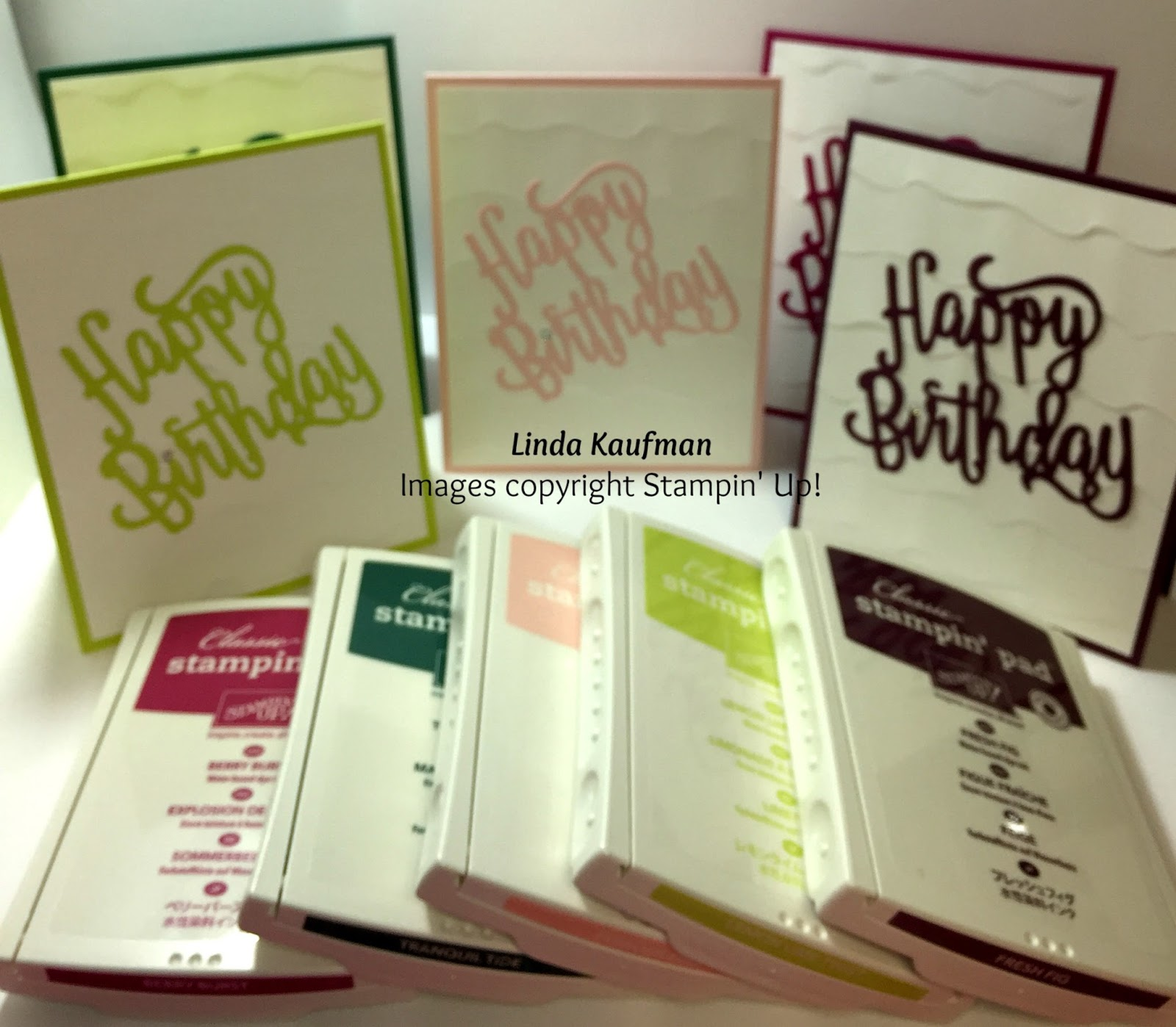 Here Are The New In Colors All Their Glory With Help Of Stampin Ups Happy Birthday Thinlit Die Multipurpose Adhesive Sheets And Dynamic