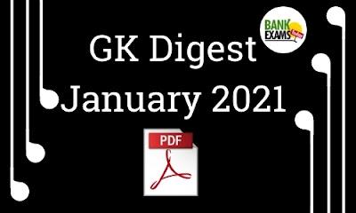 GK Digest January 2021 - Download PDF