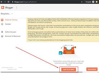 Akun blogger sudah selesai dibuat, siap digunakan untuk ngeblog