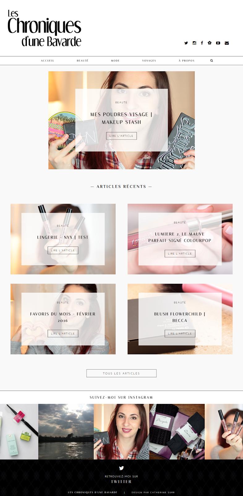 Design de blog : Les Chroniques d'une Bavarde