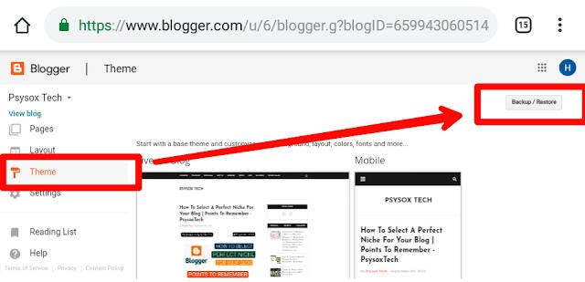 Blog backup and reset