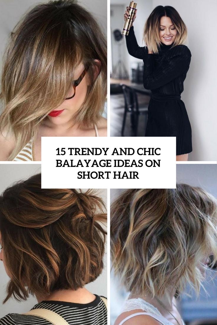 11 trendy balayage highlights ideas on short hair