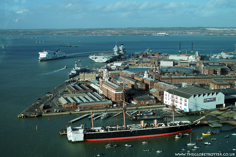 The waterfront city of Portsmouth