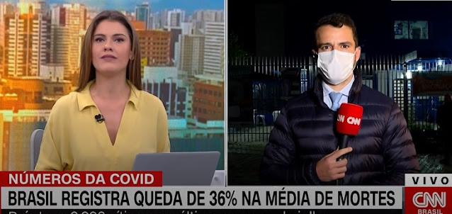 Brasil registra queda de 36,8% na média de mortes por Covid-19 em um mês