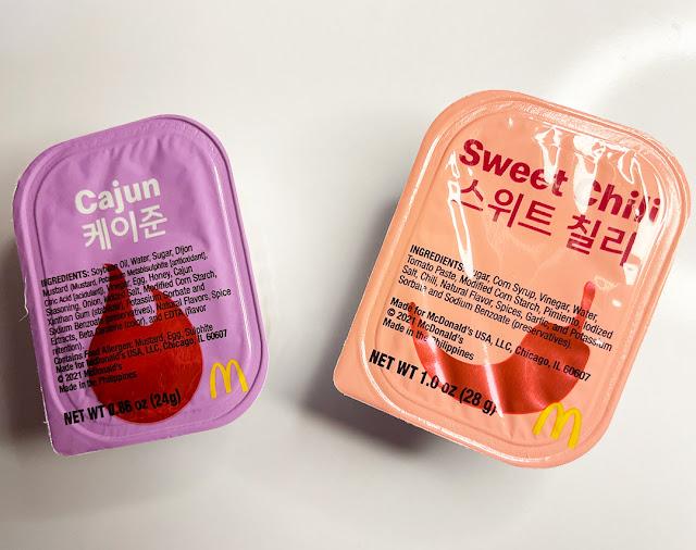 Cajun and Sweet Chili Ingredients