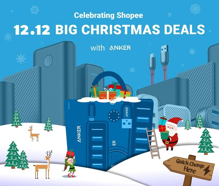 Anker Offers up to 40% Discount, Free Shipping at Shopee's 12.12 Big Christmas Sale