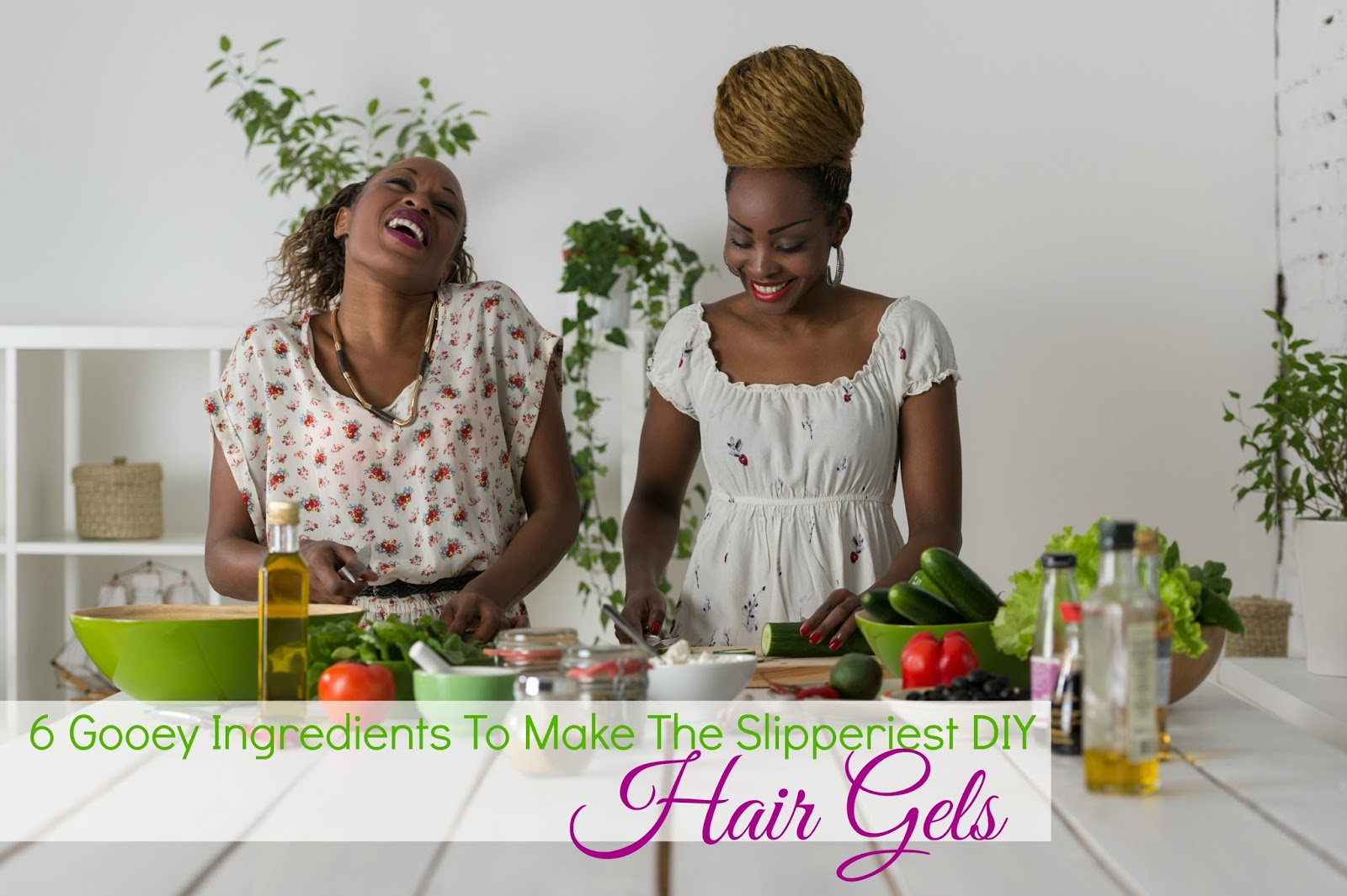 DIY Hair Gel Using The Best Ingredients For Slip & Fighting Frizz. It's time to make your own hair gel and we've got the top ingredients to make the best!