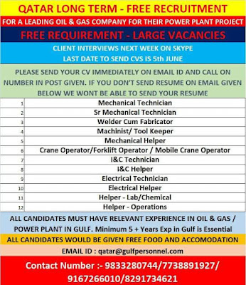 Long term jobs in Qatar