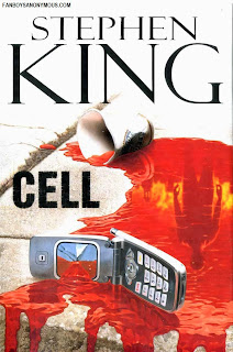 Stephen King Cell novel cover art bloody cell phone