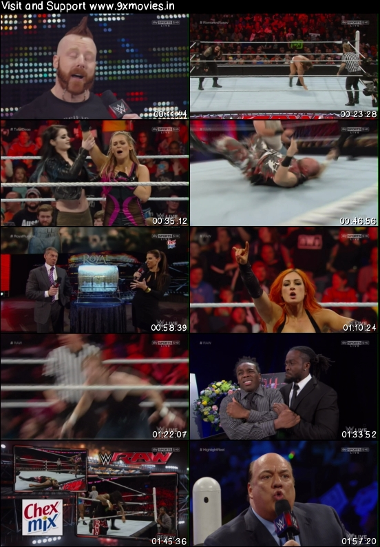 WWE Monday Night Raw 18 Jan 2016 HDTV 480p 500MB