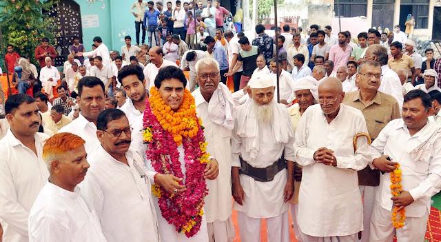 lalit-nagar-mla-tigaon-welcome-mahawatpur-bhaskola-faridabad