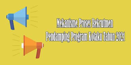 Mekanisme Proses Rekrutmen Pendamping Program Kotaku Tahun 2021