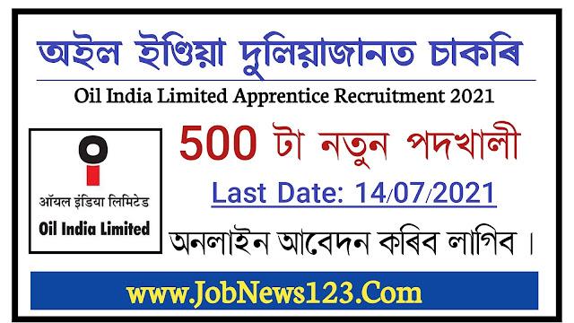 Oil India Limited Apprentice Recruitment 2021: