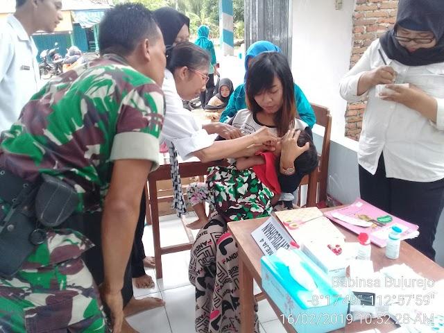 Siapkan Generasi Sehat, Koramil 0821/18 Tempursari Dampingi Posyandu