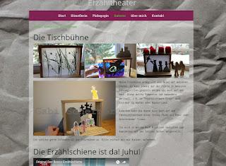 Gabi Scherzer zeigt auf ihrer Webseite Bilder vom Einsatz der Erzählschiene.